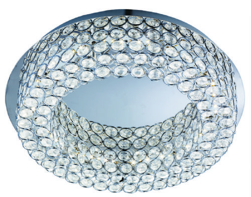 Vesta Led Ceiling Flush, Chrome, Clear Crystal Buttoms 4291-54Cc